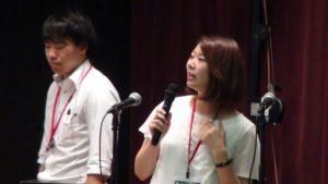 会議Ⅲで発表する川瀬由希子さん(右)